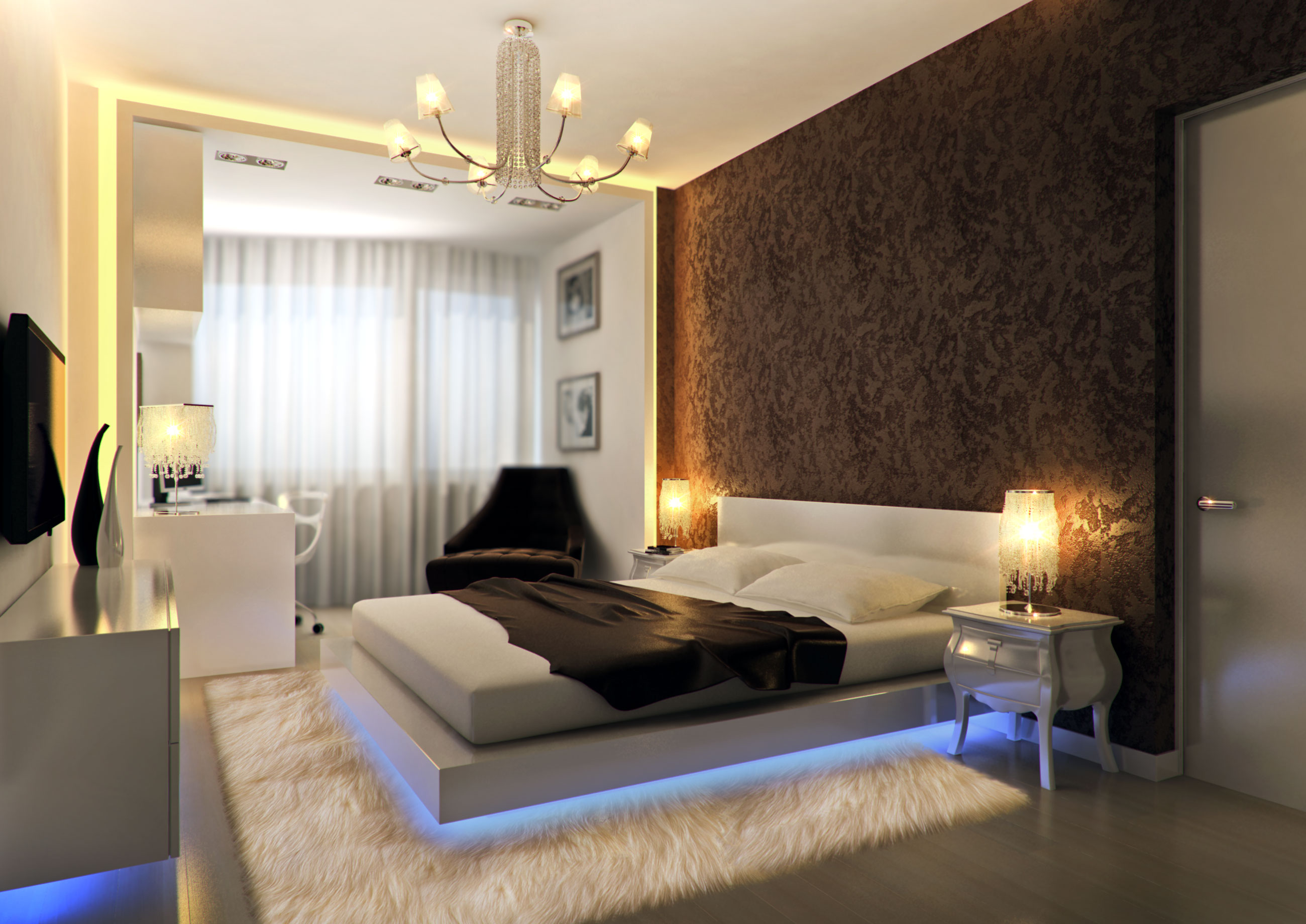 Дизайн квартир спальни